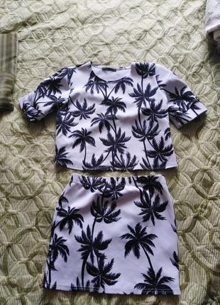 Костюм, юбка и топ