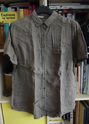 Рубашка льняная massimo dutti