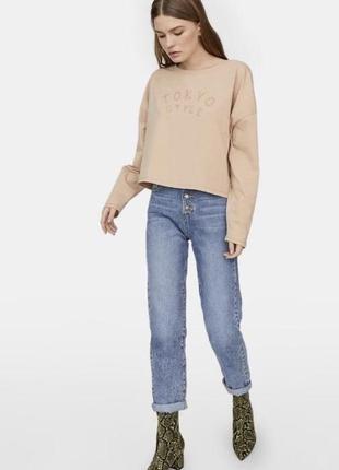Нові mom fit джинси stradivarius