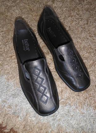 Кожаные мокасины / туфли hotter (англия) 100% кожа