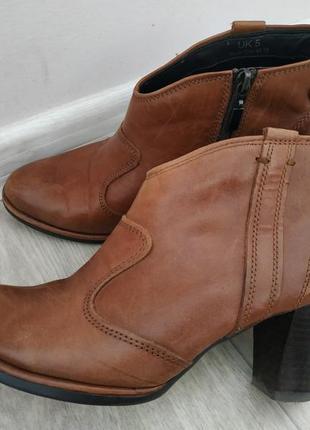 Ботинки р.37-38 кожа