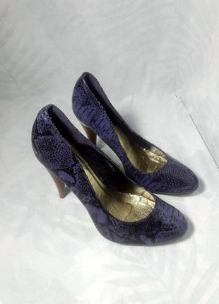 Эксклюзивные змеиные туфли лодочки , кожа питона