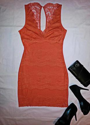 Распродажа! коктейльное  кружевное платье