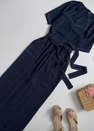 Шикарный брючный комбинезон с широкими штанами палаццо asos
