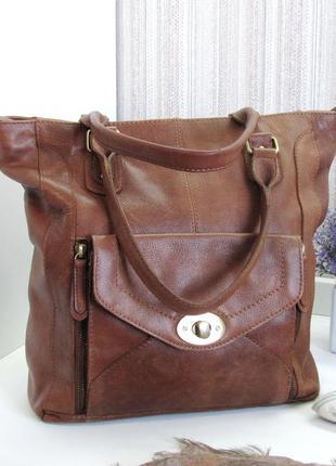 Большая сумка, шоппер,  aura, натуральная кожа