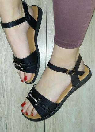 Легкие босоножки 🌿  сандали босоніжки низкий ход2 фото