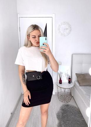 Новая юбка обтягивающая чёрная
