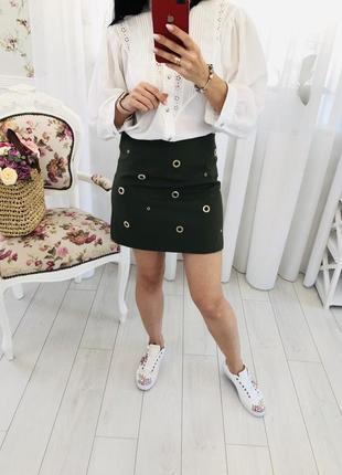 Итальянская юбка с люверсами