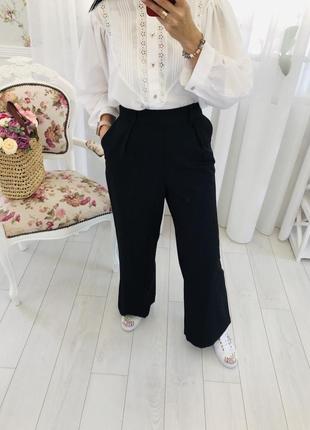 Широкие брюки палаццо с защипами asos design
