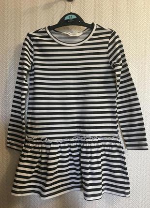 Платье с длинным рукавом h&m 2-4 98/104