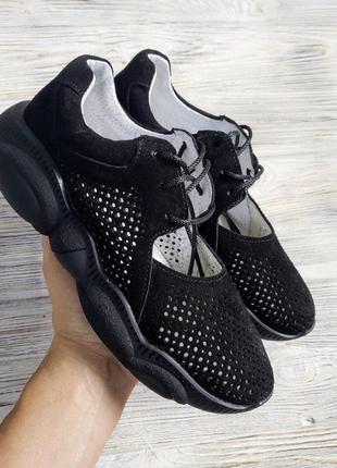 Черные замшевые кроссовки ted dream