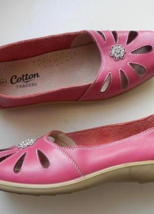 Кожаные балетки босоножки cotton 39р