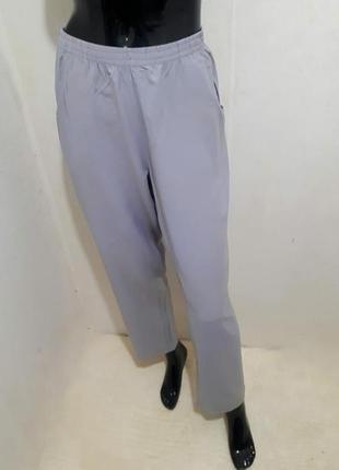 Удобные базовые брюки штаны на резинке/ вискоза