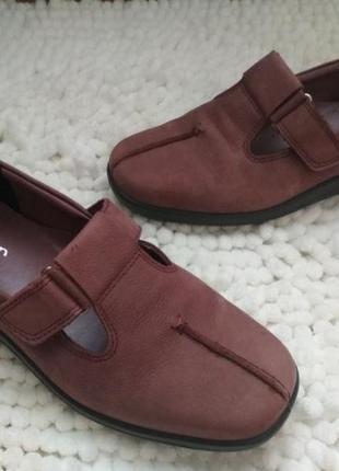 Мега удобные кожаные туфли, мокасины 39р hotter