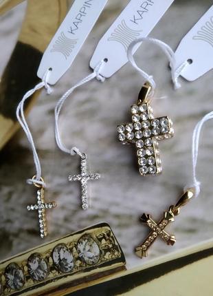 Крест подвеска кристалы swarovski