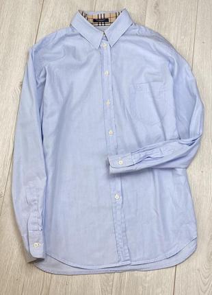 Хлопковая однотонная рубашка