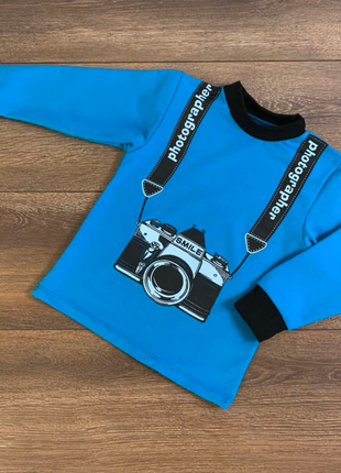 """Свитшот """"маленький фотограф"""" для мальчика"""
