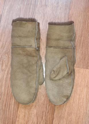 Теплые рукавицы варежки на овчине /размер s