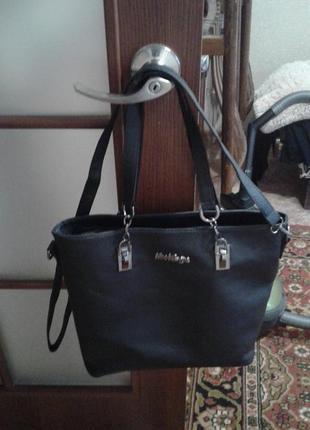 Отличная черная сумка mei&ge.