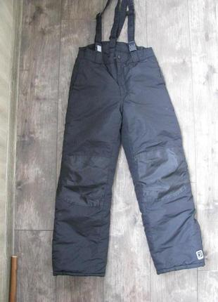 Штаны лыжные полукомбинезон 11-12 лет 152 см теплые зимние