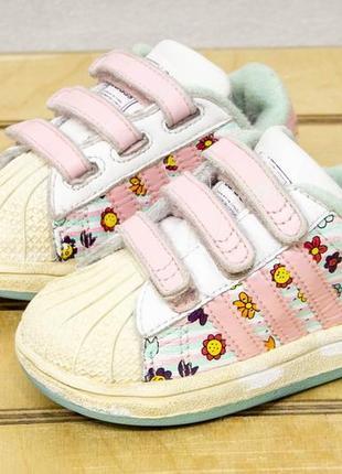 Adidas super star 21 - 13 см кроссовки детские на девочку