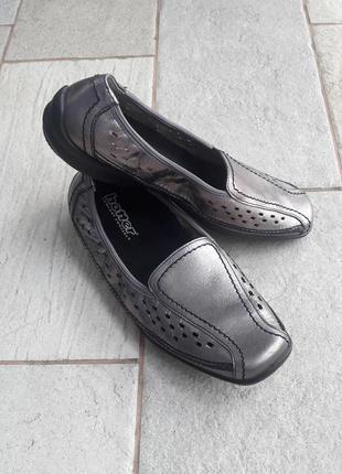 Женские ортопедические кожаные туфли. 100% кожа. hotter.