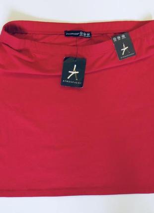 Женская красная юбка мини atmosphere