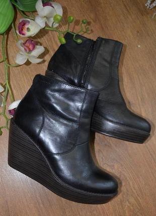 Сапожки ботинки кожанные vagabond торг