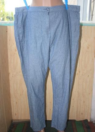 Лёгкие летние котоновые штаны брюки на резинке большого размера батал