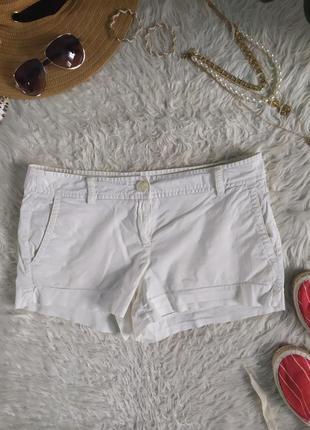 Базовые хлопковые белые короткие шорты