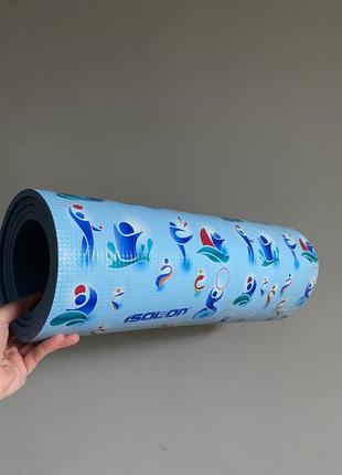 Isolon коврик, каремат  для йоги / фитнеса / спорта голубой синий