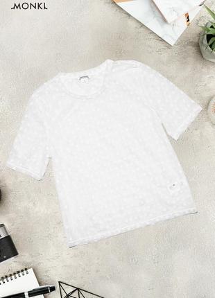 Прозрачная футболка в горошек monki