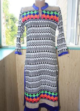 Индийское платье с разрезами сари стиль бохо этно восточные танцы