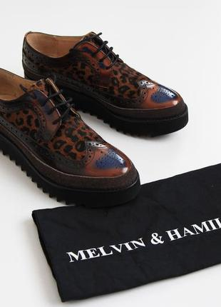 Melvin & hamilton кожаные туфли на платформе броги р.38