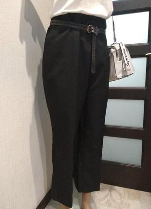 Базовые укороченные брюки штаны капри бриджи черные