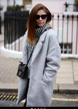 Пальто кокон кардиган шерсть букле куртка