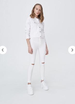 Белые джинсы { sinsay} с биркой !