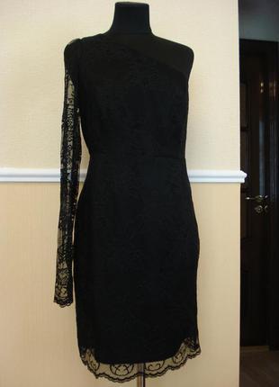 Маленькое черное платье гипюровое платье вечернее платье