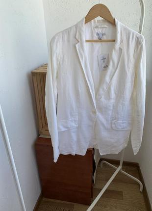 Пиджак лён белый