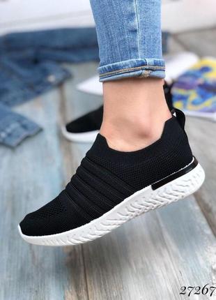 Кроссовки без шнурков текстильные,прозрачные вставки.