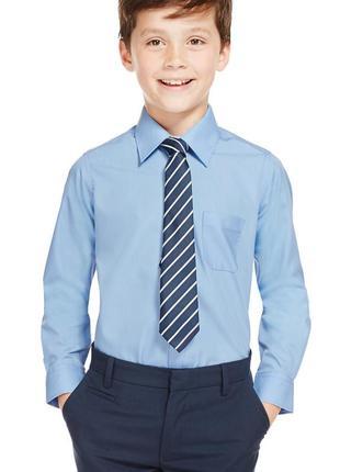 Голубая рубашка mark &spencer