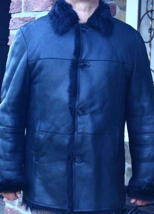 Натуральная кожаная куртка дублёнка arber
