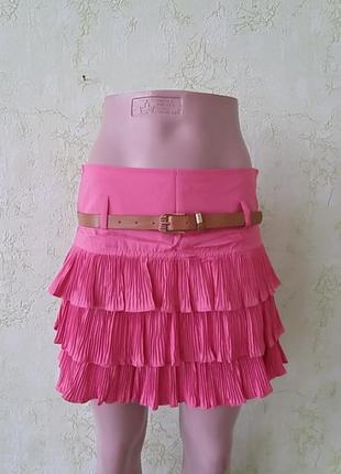 Летняя юбка с воланами