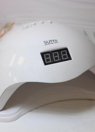 Профессиональная led-лампа для сушки гелей и гель лаков sun 5 48w