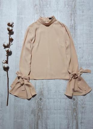 Красивая блузка с завязками на рукавах missguided