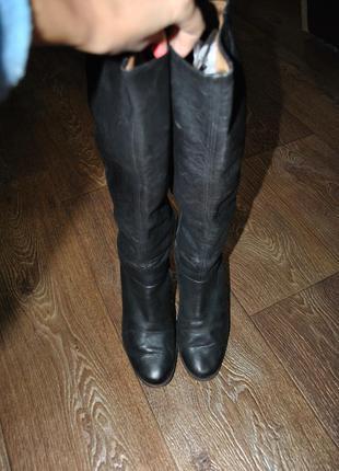 Сапоги medea кожаные черные брендовые классика 37 размер