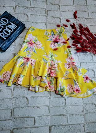 Легкая парящая юбка в цветочный принт sale