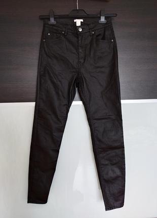 Черные базовые джинсы, штаны с пропиткой h&m
