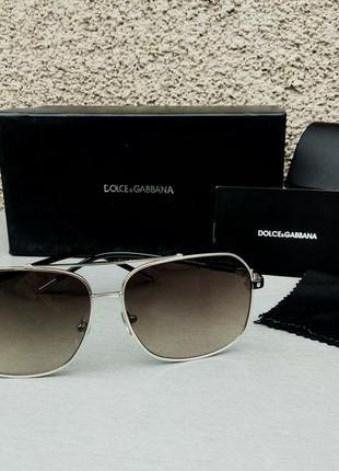 Dolce & gabbana очки мужские солнцезащитные коричневые с градиентом