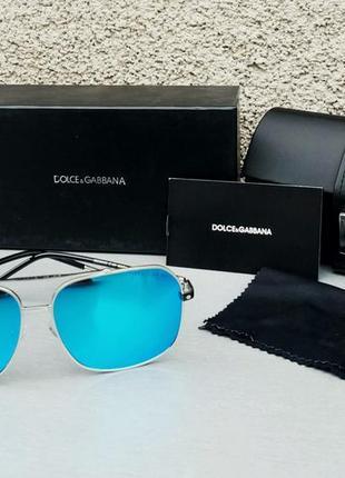 Dolce & gabbana очки мужские солнцезащитные голубые зеркальные